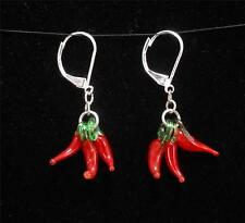 Red Hot Chili's Shaped Loop Earrings Designer Collection