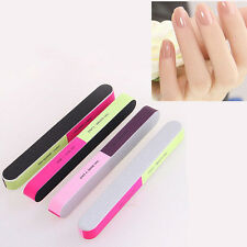 2 Pcs Nail Art Manicure 4 Way Shiner Buffer Buffing Block Sanding File Set