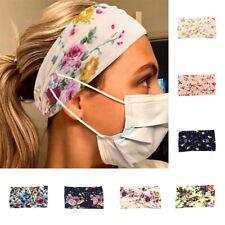 Women Headband Wide Stretch Hair Band Floral Print Headband Yoga Hair Band New