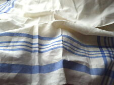 Utility CC41 vintage 1940s classic white blue checked linen tablecloth Unused