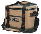 CASCADE 18 BEER CAN SOFT ICE COOLER LUNCH PICNIC SPORTS FISHING BAG TAN