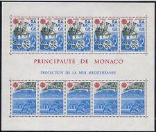 MONACO 1986 / Mi 1746-1747 /  LE MER MEDITERRANEE  /  BLOCK 32 MNH / POSTFRIS **