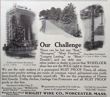 1908 Ad(Xb2)~Wright Wire Co. Worcester, Mass. Garden Fencing, Trellis, Arbors