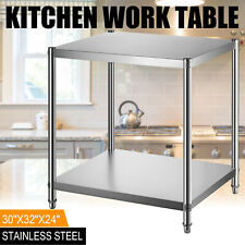 "Stainless Steel Commercial Kitchen Work Food Prep Table Heavy Duty 24"" x 30"""