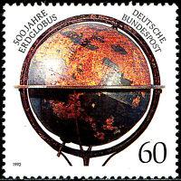 1627 postfrisch BRD Bund Jahrgang 1992 500 Jahre Globus Landkarte historisch
