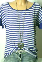 ZARA T-Shirt Gr. S blau-weiß gestreift Blusen Damen T-Shirt im maritimen Look