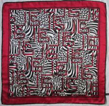 -Superbe Foulard  JEAN-LOUIS SCHERRER     soie  TBEG  vintage scarf 84 x 85 cm