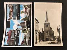 2 postcards Netherlands Nederland Groeten uit Strijen Church Hervormde Kerk