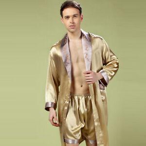 NWT Pure Silk  Men Sleepwear Kimono Robe Boxer Briefs  Set Size Small Medium ...