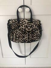 Boden Snow Leopard Pony Skin Handbag