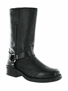 Gringos Men's Calf Boots Biker Cowboy Western Pull On Tall Leather UK 6-12