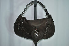 JUICY COUTURE Handbag Leather Chocolate Brown