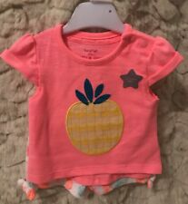 Baby Girls 2pc Summer Fruits T Shirt And Shorts Set Age Upto 1 Month (small/tiny