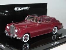 Minichamps 436134930, Rolls-Royce Silver Cloud II Cabriolet, 1960, dark red 1/43