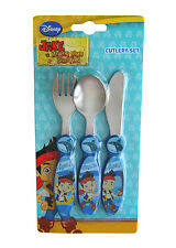 Licensed Disney Jake & the Never Land Pirates Boys Kids 3pc Cutlery Set Official