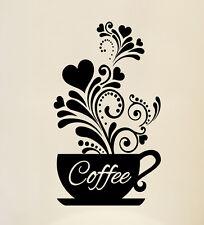 Love Tazze da Caffè Cucina Adesivo Muro Tè Vinile ARTE Decalcomania Arredamento Ristorante Pub