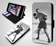 Mike Tyson Boxing Champion Legend Boxer KO Leather Wallet Flip Phone Case Cover