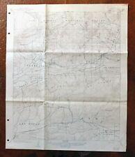Piru California Vintage USGS Topographic Map 1921 Fillmore Simi Valley Topo