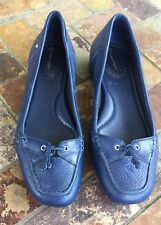 Rockport Slip On Loafer, flat, shoe Navy  Leather Women's Shoe Size 6.5 M