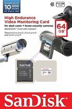 SANDISK HIGH ENDURANCE MICRO SDHC SD 64GB 64G 64 G GB MEMORY (QQ) CARD A