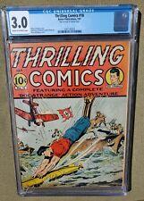 THRILLING COMICS #18 CGC 3.0 (JUL 1941) BETTER PUBLICATIONS. SCHOMBURG COVER