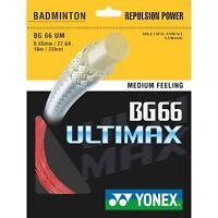 Yonex BG-66 Ultimax Badminton String - 10m Set