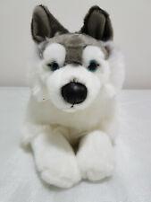 Uni-toys Husky lying dog stuffed animal - (30cm) with tags!