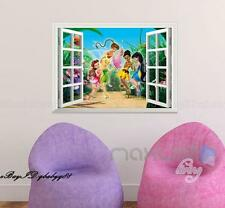 TinkerBell Fairy Flower 3D Window Vinyl Wall decor Stickers Art Prints Kids Gift