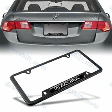 1PCS For ACURA Black Metal Stainless Steel License Plate Frame MDX RDX TSX TL