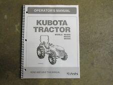 Kubota MX4800 MX5200 MX5800 4800 5200 5800 tractor owners & maintenance manual