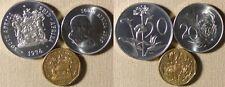South Africa:3 Coins 1965 20 Ct+1990 20 Ct  Gem BU;1974 50 Ct Cameo Proof IR2989