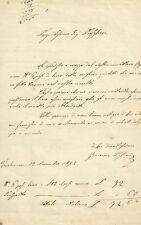 Lettera Autografa Giacomo Pasini Spedizione Lino Carrettiere Verolanuova 1872