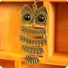 Fashion Vintage Bronze Owl Women Sweater Long Chain Pendant Necklace