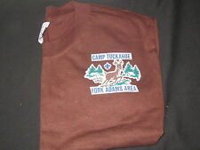 Camp Tuckahoe Brown T-shirt,  adult large      eb12
