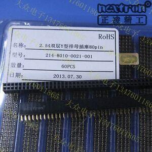 4PCS NEXTRON 2x40Pin 2.54mm Gold Double Row Female Pin Header 40P Double Socket
