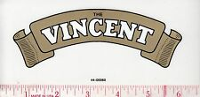 """The Vincent"" Decal , Made in England, Peel & Stick Decal, 6.5"" x 3"", F/SH"