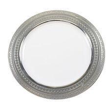"30 x 7""/18cm Bianco Argento RIM Forte Monouso Plastica Lato Piastre-Matrimonio"