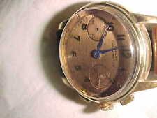 2-Register 1940-50s ENICAR CHRONOMETER 2-Register - BRONZE DIAL - Estate Runs