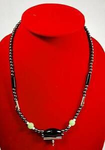 Black Leklai Namphee Necklace Thai Amulet Gemstone Protect Mala Beads 3 hooks
