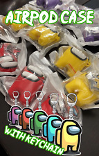 Among Us with Keychain Silicone AirPod 1/2/Pro Case | Free Shipping To USA
