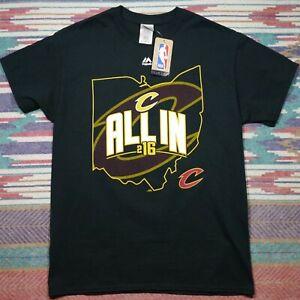 NEW Cleveland Cavaliers Shirt Adult Medium Black All IN Basketball NBA Mens