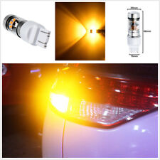 2 Pcs T20 W21/5W Double Reflector Cup Amber LED Car Indicator Turn Signal Light