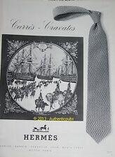 ANCIENNE PUBLICITE 1969 HERMES CARRE CRAVATES MARINE ET CAVALERIE ORIGINAL AD