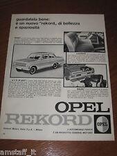 AG21=1963=OPEL REKORD=PUBBLICITA'=ADVERTISING=WERBUNG=