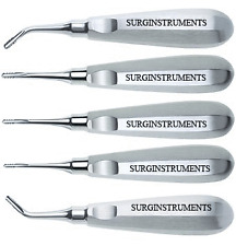 5 Serrated Elevators Set Dental Extraction Instruments