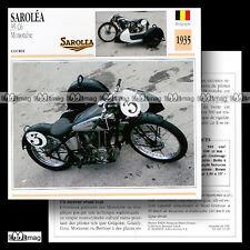 #012.20 SAROLEA 600 35 C6 MONOTUBE 1930's Fiche Moto Classic Motorcycle Card