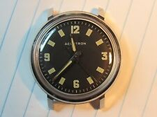 """Restored 1967 BULOVA Accutron 214 """"Military Dial"""" Stainless Men's Watch BEAUTY"""