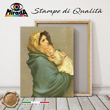 QUADRO  Roberto Ferruzzi Madonna del riposo STAMPA Giclée Fine Art CANVAS sonno