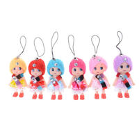 5Pcs 8cm Confused Ddung Girl Dolls Phone Charms as Dollhouse Toys Cake Decor Gw