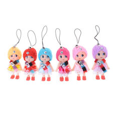 5Pcs 8cm Confused Ddung Girl Dolls Phone Charms as Dollhouse Toys Cake Decor FB